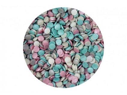 Cukrové zdobení Scrumptious, Confetti Wedding Mix 70g