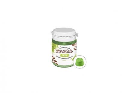 Prachová barva do čokolády Green - zelená, 20g, Food Colours