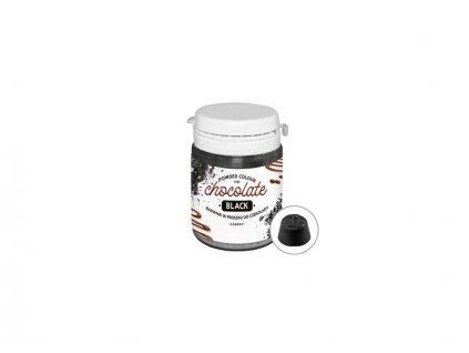 Prachová barva do čokolády Black - černá, 20g, Food Colours