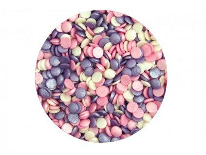 Cukrové zdobení Scrumptious, Confetti Ice Pink Mix 70g