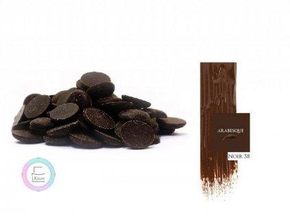 Hořká čokoláda Arabesque Noir 58%, 5 kg