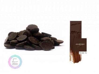 Hořká čokoláda Arabesque Noir 72%, 5 kg