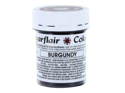 Sugarflair barva do čokolády BURGUNDY, 35g