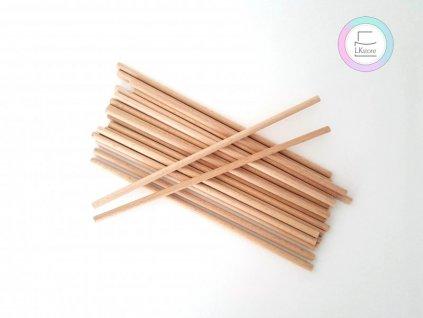 Dřevěné sloupky krátké, pr. 6mm, 20cm, 20ks