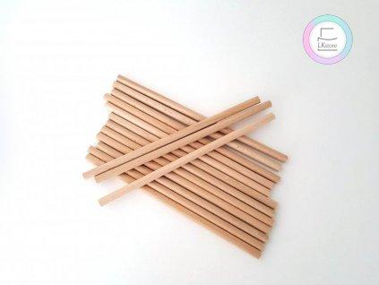 Dřevěné sloupky krátké, pr. 8mm, 20cm, 15ks