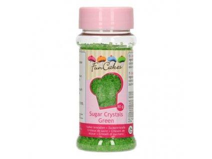 Cukrové zdobení FunCakes, barevný cukr Green 80g