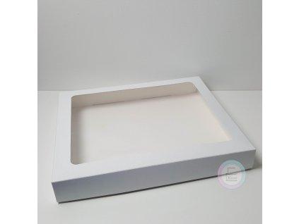Krabice na cukroví bílá 1kg, 30 x 25 x 3,7cm