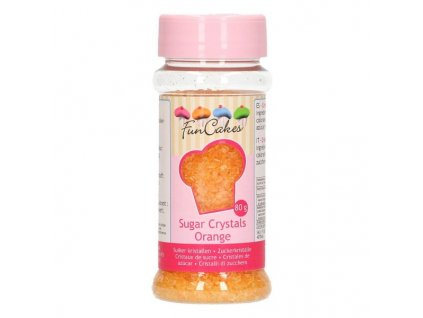 Cukrové zdobení FunCakes, barevný cukr Orange 80g
