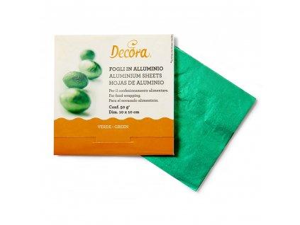 Alobalová fólie na bonbóny Decora, Green - zelené 150ks