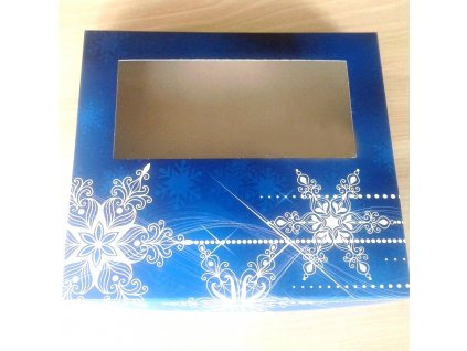 vanocni krabice na cukrovi modra 25 x 22 x 5 cm neposilame v balicich