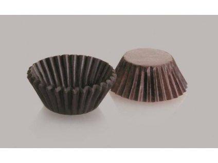 Cukrářské košíčky na pralinky hnědé 40x20mm Ibili, 100ks