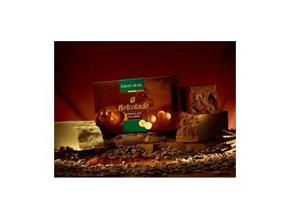 Náplň do pralinek a makronek hořká čokoláda Cryst-o-fill Belcolade, 0,5kg