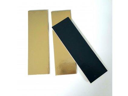Tenká zlatá podložka na minidezert, 13x4cm