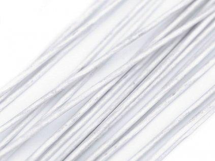 Aranžovací drát bílý č. 18, 50ks
