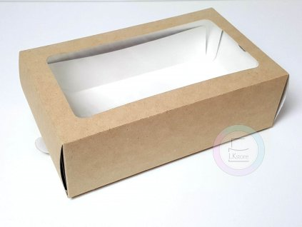 Krabička na makronky hnědá 180 x 110 x 55 mm, 50ks
