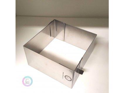 Pevná rozložitelná forma čtverec 15x15cm (výška 10cm)