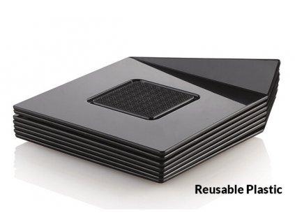 Dekorační podložka čtverec černý 8,3cm Silikomart, 25ks