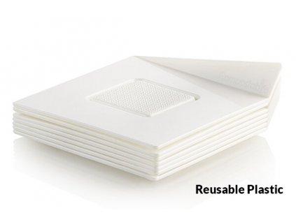 Dekorační podložka čtverec bílý 8,3cm Silikomart, 25ks