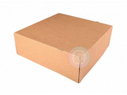 Dortová krabice hnědá 28 x 28 x 10 cm - 50ks