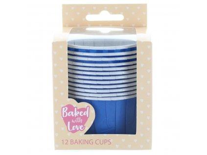 Samonosné košíčky Baked With Love - Blue, 12ks