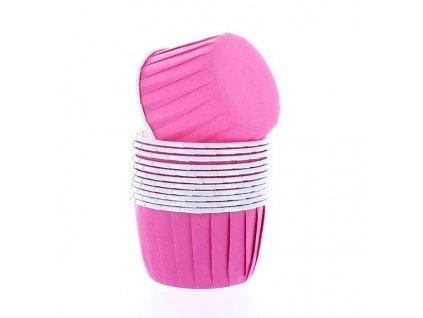 Samonosné košíčky Baked With Love - Hot Pink, 12ks
