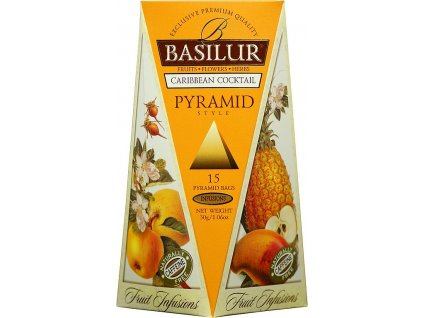 Basilur Fruit Caribbean Cocktail Pzramid 15x2g