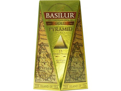 BASILUR Island of Tea Gold Pyramid 15x2g