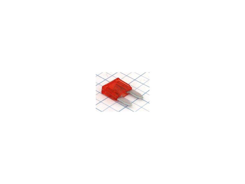 mini nozova poistka 10a cervena i16347