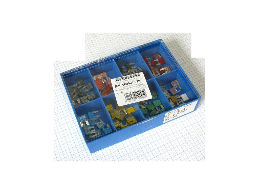 krabicka modra mini nozove poistky 80 ks i23464