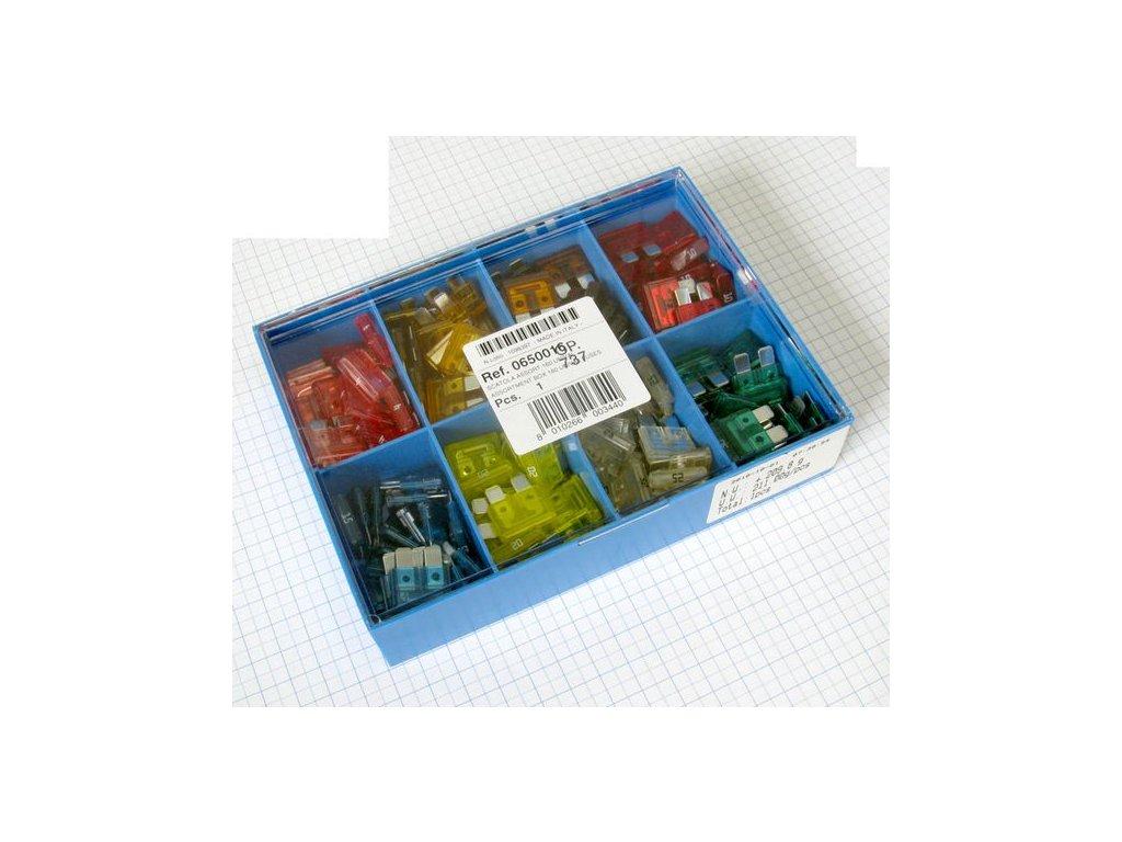 krabicka modra uni nozove poistky 160 ks i23465