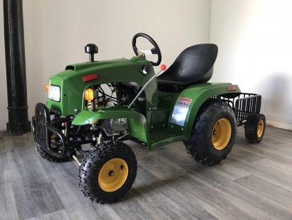Traktor s vozíkem 110ccm zelený