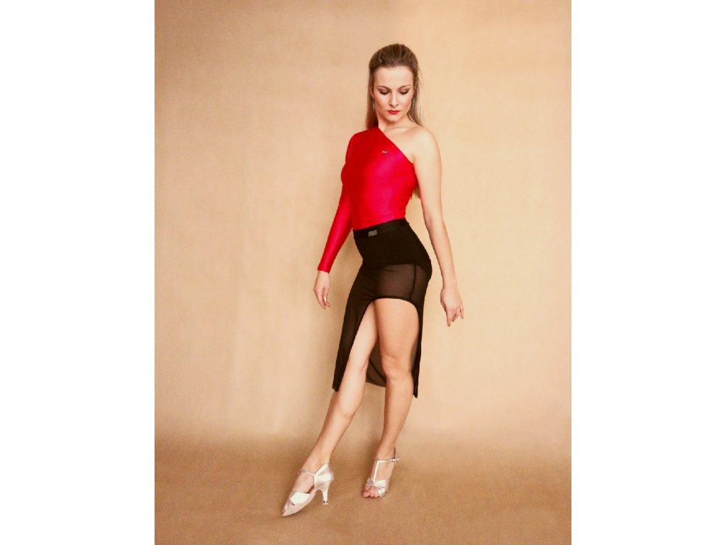 pouzdrová sukně k jedné noze