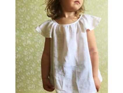 holčičí lněná halenka bílá