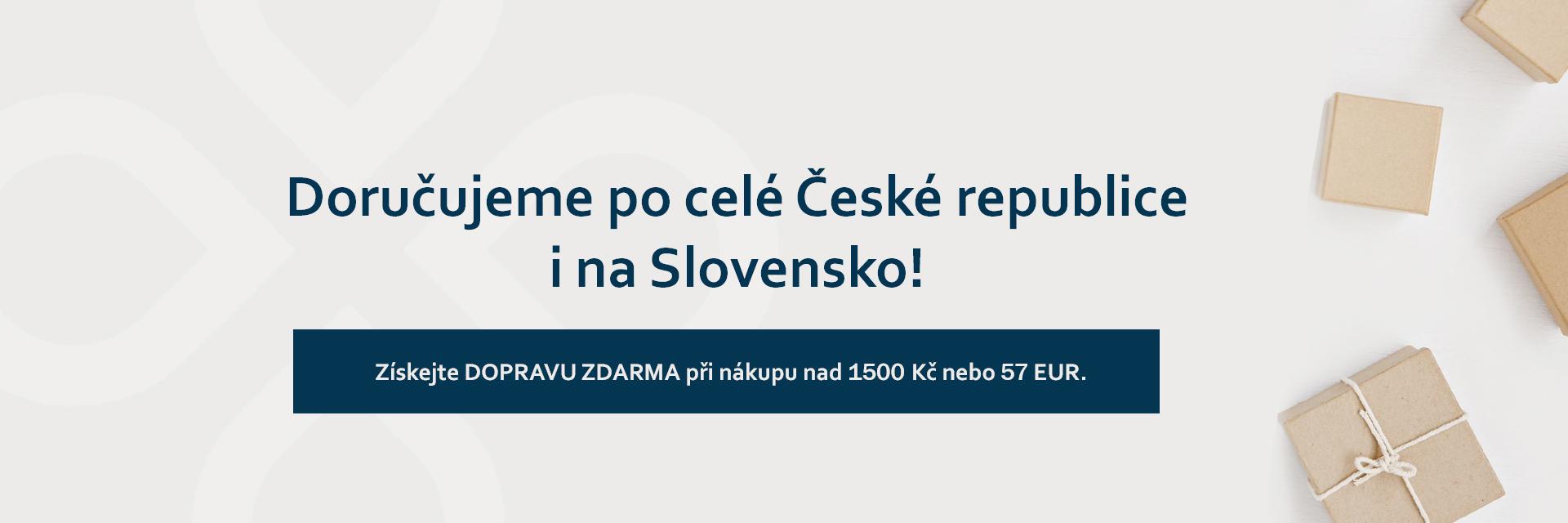 Nově doručujeme produkty i na Slovensko