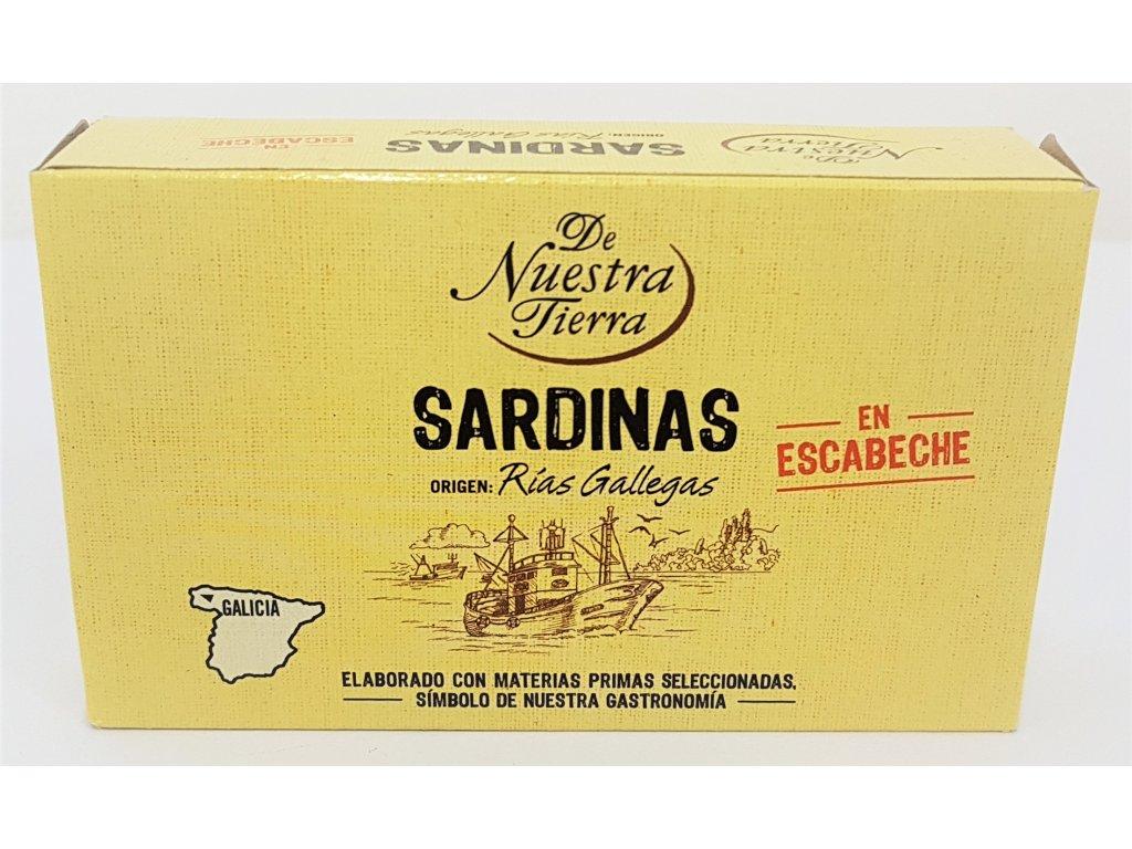 Sardiny v escabeche de nuestra tierra