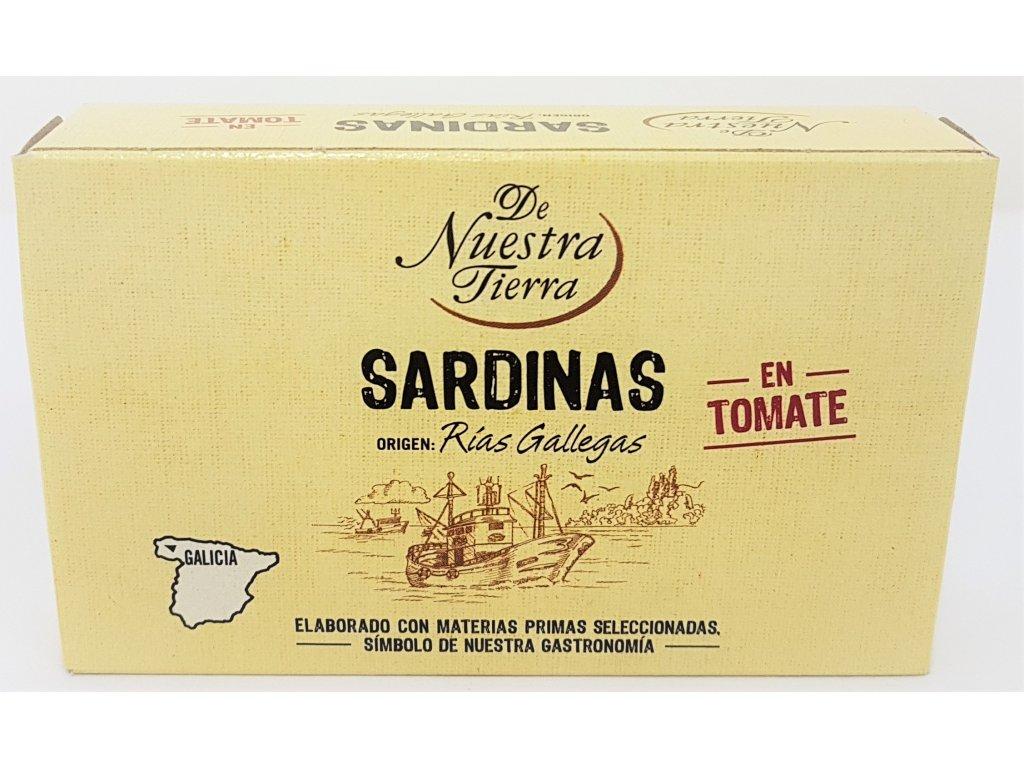 Sardiny v tomatě de nuestra tierra
