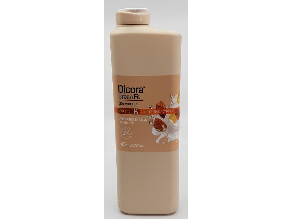 Sprchový gel Dicora mandle+oříšek