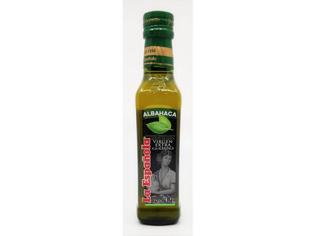 Olivový olej extra panenský - bazalka 250ml