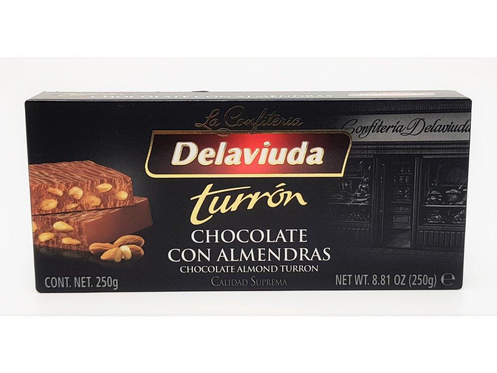 Turrón čokoláda s mandlemi