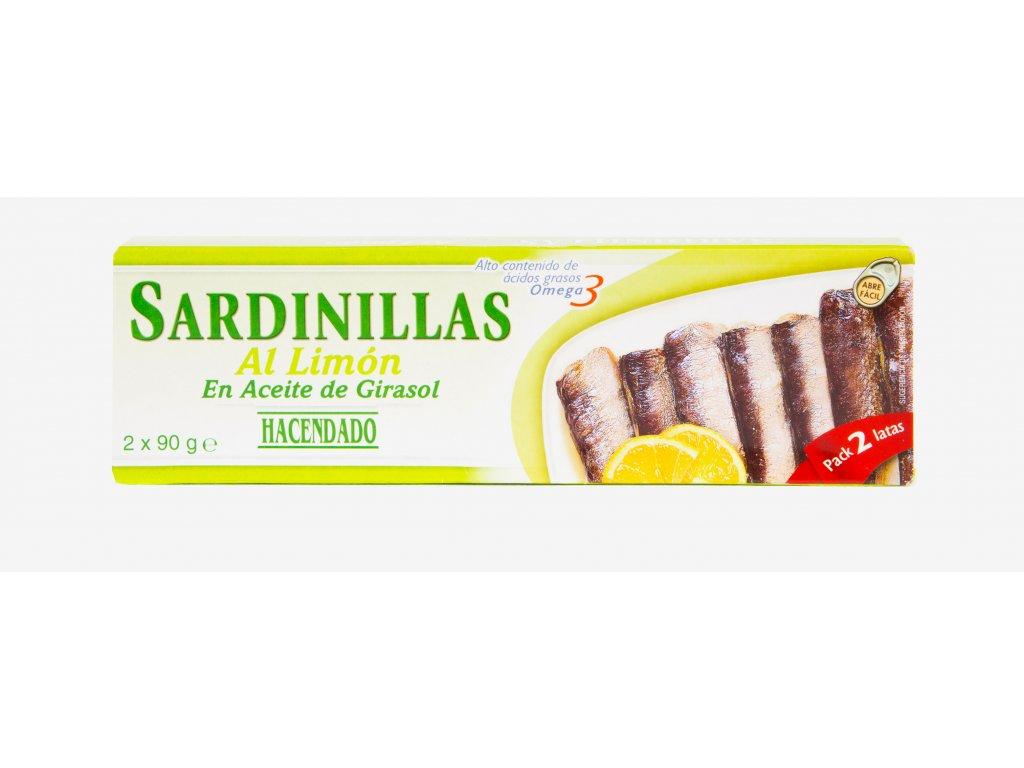 Sardinky s citrónem 2x90g
