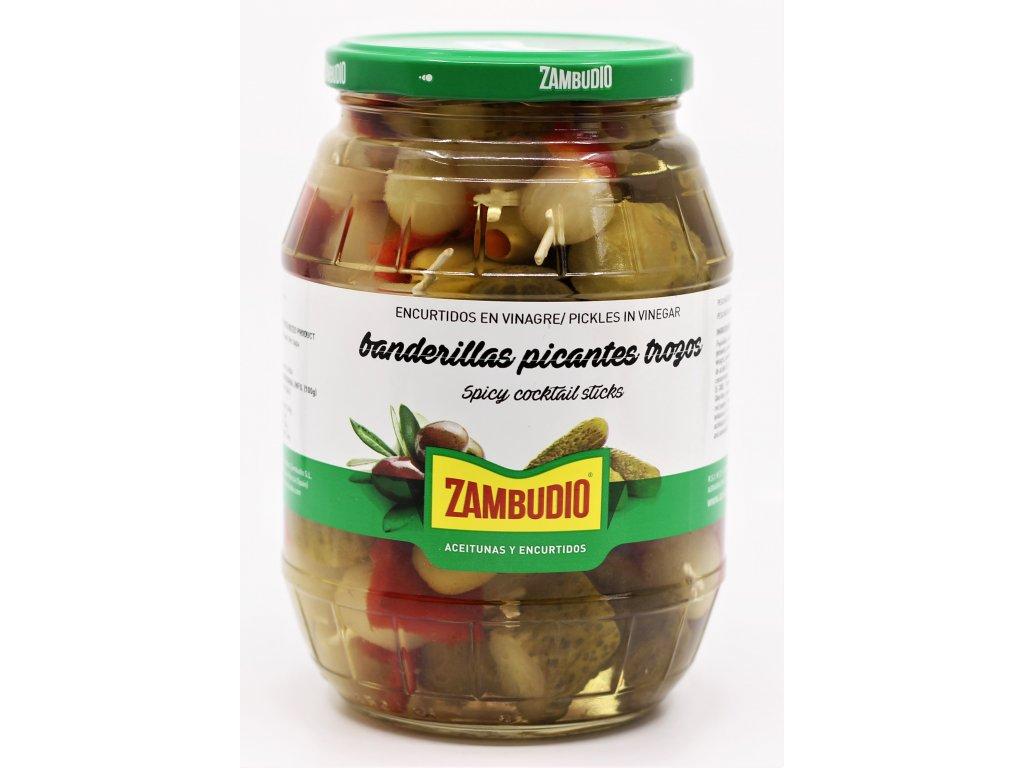 Banderillas s krájenou okurkou-pikant Zambudio