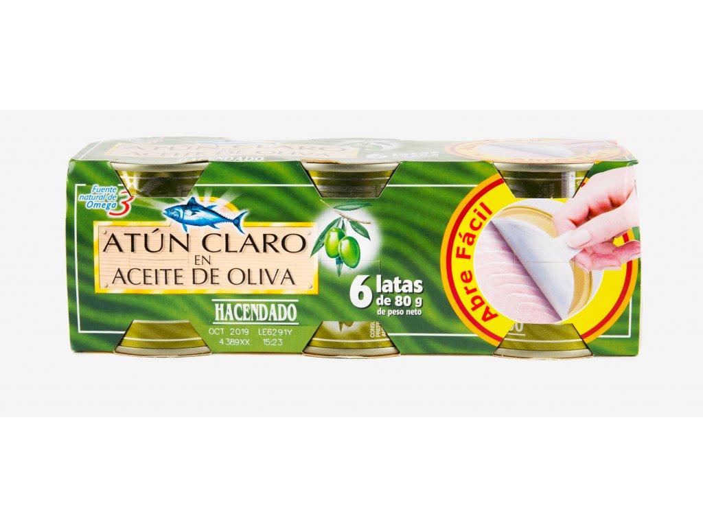 Tuňák v olivovém oleji 6x80g