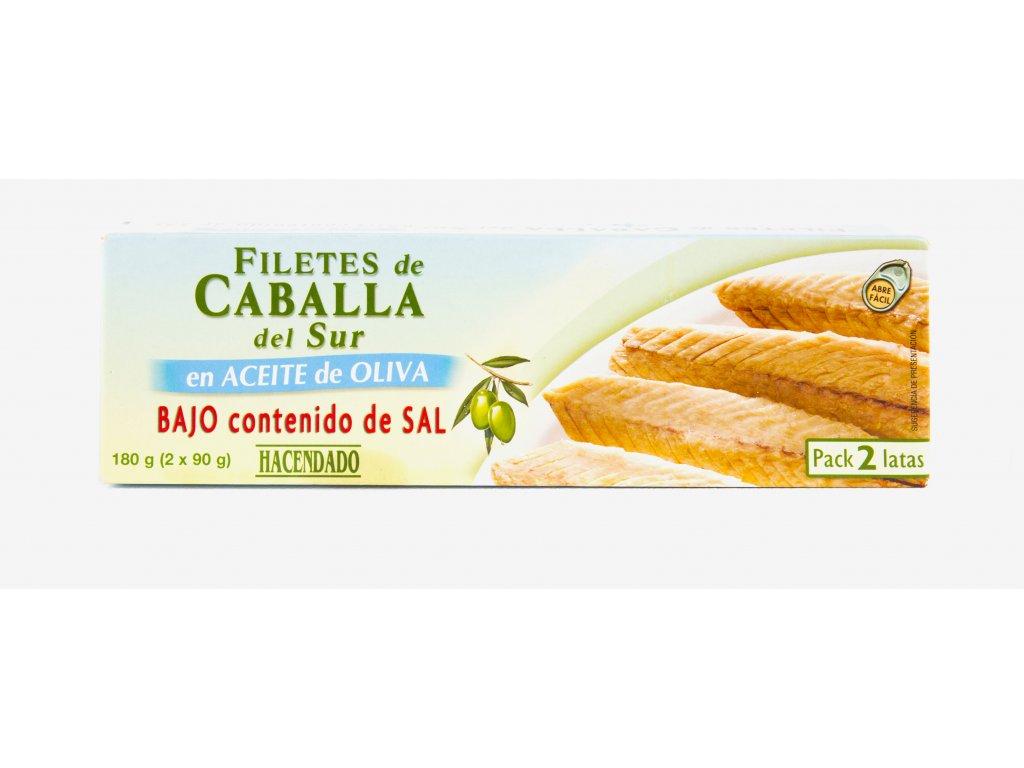 Makrely v olivovém oleji s nízkým obsahem soli 2x90g