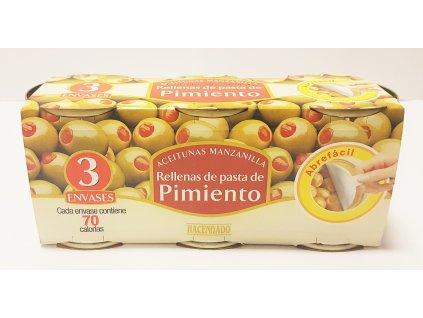 Olivy plněné paprikovou pastou 3ks