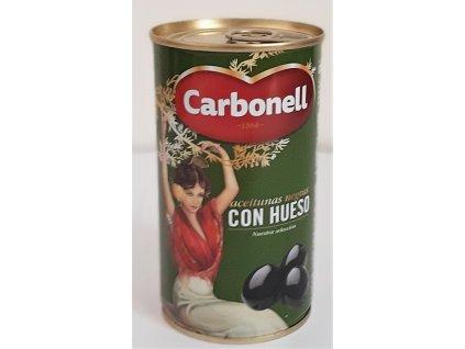Olivy černé s peckou Carbonell
