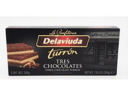 Turrón 3 čokolády 200g
