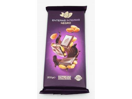 Čokoláda hořká s celými mandlemi