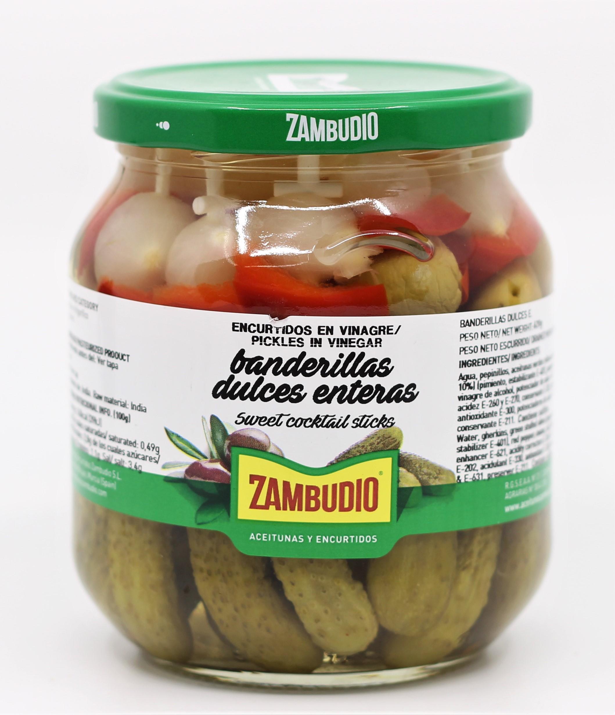 Banderillas s celou okurkou Zambudio