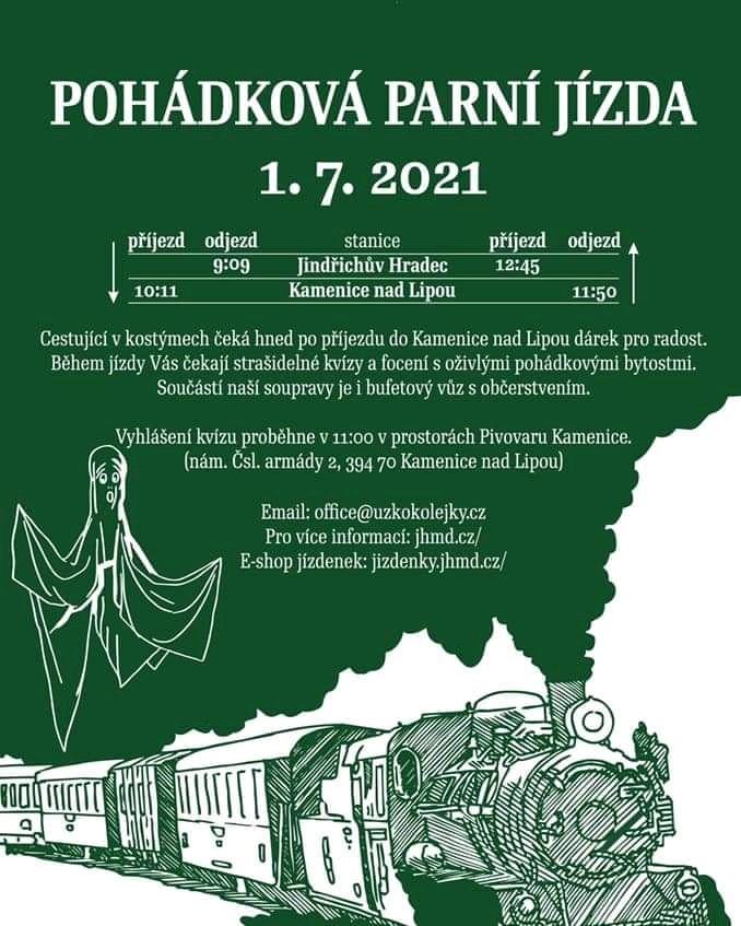 Pohádková parní jízda - 1. 7. 2021