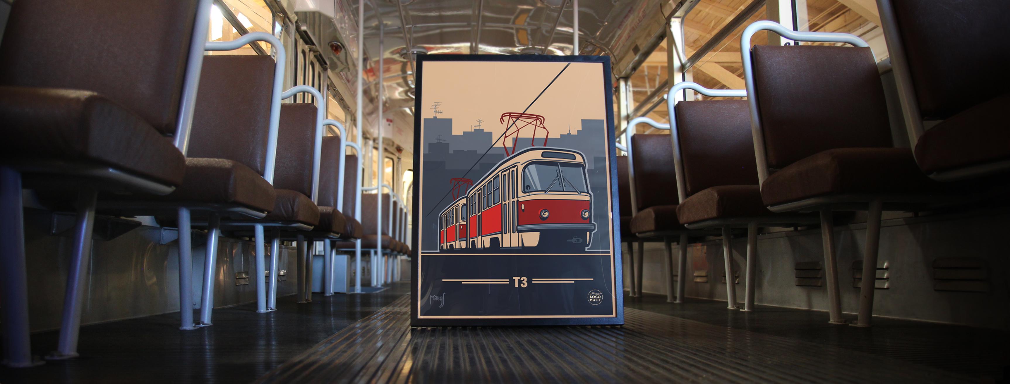 Plakát Tatra T3